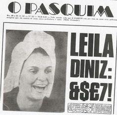 Leila Diniz na capa da Revista O Pasquim