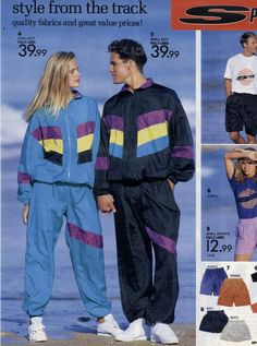 1980s childhood memories! The classic 80s shell suit look
