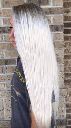 [x] - Pastel Hair Ideas Silver Blonde, Silver Hair, Blonde Grise, Ice Blonde Hair, Hair Color And Cut, Platinum Blonde Hair, Pastel Hair, Gorgeous Hair, Hair Looks