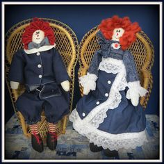 Linda Walsh Originals Dolls and Crafts Blog: The Dolls Product Lines Series - Victorian Annie and Victorian Andy