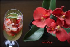 Strawberry Basil Bourbon Spritzer  www.Toriology.com