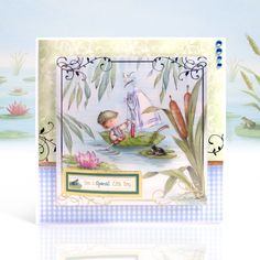 Special Little Boy created from Hunkydory Crafts' Garden Secrets - Fishing Friends Hunkydory Crafts, Hunky Dory, Different Flowers, Kids Cards, Little Boys, Mittens, The Secret, Card Stock, Fishing