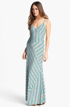(Was $98.0) $39.97  Calvin Klein Stripe Jersey Maxi Dress