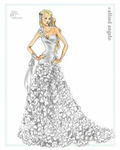 Wedding dress drawing