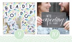 Baby Shower ideas and creative birth announcement printable.