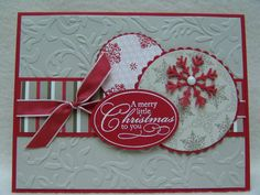 SU Christmas Punch, lg oval punch, Nestabilities, Cuttlebug E F,