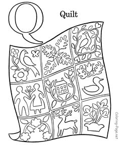 Preschool Worksheet For Tracing Letter Q Q Is For Quilt Tracing And