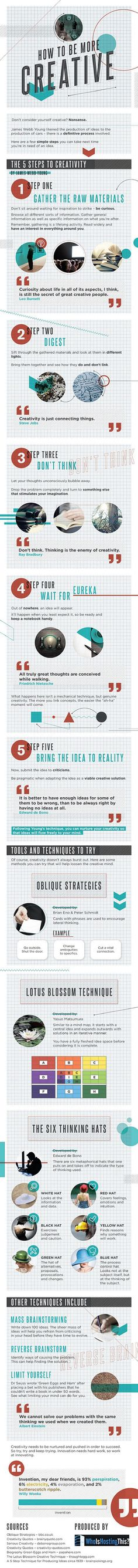 Boost Creativity : You don't have to be an artist to be creative. We were all born to be creative. This infographic tells us more.  > http://infographicsmania.com/boost-creativity/?utm_source=Pinterest&utm_medium=ZAKKAS&utm_campaign=SNAP
