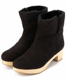 Boisson Chocolat B プラットフォームショートブーツ / platform short boots on ShopStyle