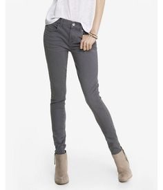 Gray Mid Rise Extreme Stretch Jean Legging, Women's Size: