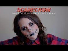 Simple Halloween scarecrow makeup // urban decay Halloween makeup // easy Halloween makeup Scarecrow Makeup, Halloween Scarecrow, Easy Halloween, Halloween Face Makeup, Simple Makeup, Urban Decay, Simple Makeup Looks