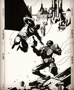 Batman versus Judge Dredd by Mike Mignola