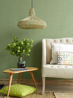 Wallpaper 50 Shades of Colour Green / Behang 50 Shades of Colour Groen - BN Wallcoverings