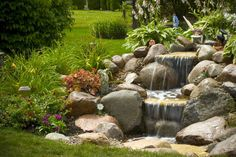 pondless waterfalls for the landscape, gardening, outdoor living, ponds water features, A small waterfall adds beauty to an unused corner of the yard