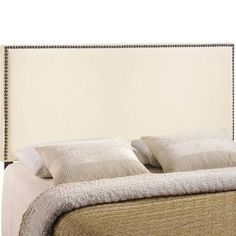 Enhance your bed of choice with a spaciously designed Region Full Nailhead Upholstered Headboard by Modway. Region captures the expansive moments of restful nights with an elegance that doesn‰۪t de Full Size Upholstered Headboard, Nailhead Headboard, Modern Headboard, King Headboard, Nailhead Trim, Headboard Ideas, Contemporary Headboards, Contemporary Furniture, Contemporary Design