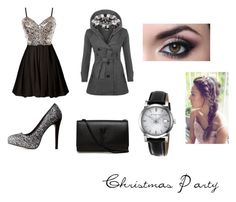 """""""Christmas Party"""" by christieveg on Polyvore featuring WearAll, Charlotte Russe, Yves Saint Laurent and Burberry"""