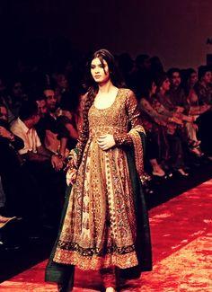 Long Pakistani designer frock