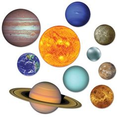 Product: Beistle 54755 Solar System Cutouts, - , Multicolored Manufacturer: Beistle Description: This item is a great value! Includes 20 solar system cutouts in package Measures from inches to 22 inches Made of boar.Decorate your home or classroom for a s Space Solar System, Solar System Planets, Space Party, Space Theme, Planet Decor, Outer Space Decorations, Space Planets, Party Supplies, Prints