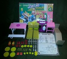 VINTAGE 1986 MATTEL ARCO BARBIE PICNIC SET PLAYSET #16-076 COMPLETE IN ORIG BOX