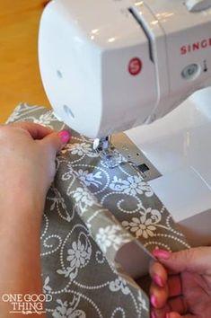 sew a rolled hem