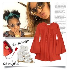 """Summer Sandals"" by ildiko-olsa ❤ liked on Polyvore featuring Rachel Zoe, Fergie and summersandals"
