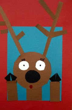 """This is one of my favourite holiday projects to do with young students. These """"reindeer looking in the window"""" collages were created by..."""