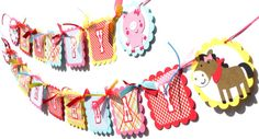 Items similar to Cute Girly Farm Animal Party Theme Happy Birthday Banner With Pink on Etsy Animal Themed Birthday Party, Farm Animal Party, Birthday Party Themes, Birthday Ideas, Farm Party Decorations, Happy Birthday Banners, Party Items, For Your Party, Farm Animals