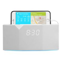 BEDDI is your ultimate bedside concierge. Now you can sleep well every night with soothing white noise while your phone and tablet are charging. Wake up refreshed every morning with a wake up light that simulates sunrise, set your alarm to your favorite music, and receive weather and traffic reports. BEDDI even communicates with other smart devices in your home to adjust your room temperature, brew your coffee, and much more! Available in black or white.