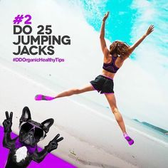 TIP #2 DO 25 JUMPING JACKS  Move your #body, no matter how briefly, to stop the stress response in its tracks and change the channel on your mood.  #healthy#healthier#healthytips#organic#happy#happiness#body#mind#healthybody#happier#thursday#saturday#organicfood#organicbeverages#darkdog#darkdogorganic#food#exercise#vegetarian#vegan