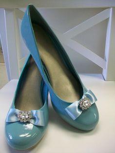 Wedding Shoes - Tiffany Blue Size 9. $85.00, via Etsy.