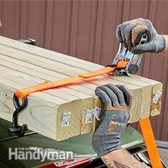 Getting building materials home from the lumberyard or home center is easy if you own a pickup truck or a minivan. But you can also haul items on the roof of your car or SUV if you've got a roof rack, obey the rack's weight limits and properly tie down the load.