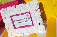 favor table sign