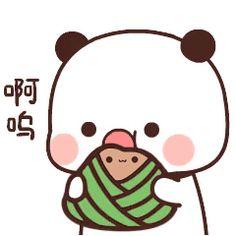 Cute Cartoon Images, Cute Cartoon Wallpapers, Cute Images, Cute Bear Drawings, Kawaii Illustration, Cute Love Gif, Little Panda, Dibujos Cute, We Bare Bears