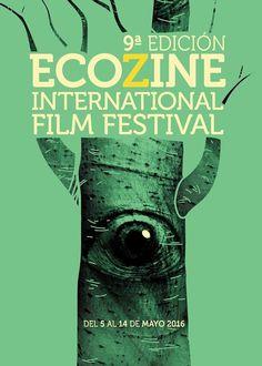 Cartel Finalista 9ª edicion  Ecozine 2016 Titulo: Mirada viva Autor: Samuel Adebola Akinfenwa