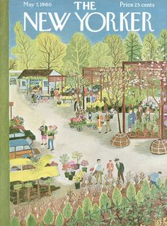 The New Yorker - Saturday, May 7, 1960 - Issue # 1838 - Vol. 36 - N° 12 - Cover  by Ilonka Karasz