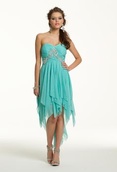 Prom Dresses 2013 - Short Beaded Hanky Hem Dress from Camille La Vie and Group USA