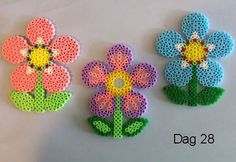 Spring flowers hama beads by Sylvana