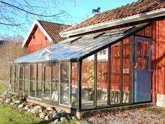 tillbyggt växthus