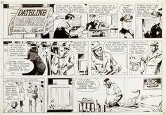 Al McWilliams Dateline: Danger! Sunday Comic Strip Original Art | Lot #12092…