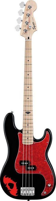 Squier Pete Wentz Signature Precision Bass Guitar | Black Finish