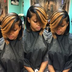STYLIST FEATURE| This #bob✂️ done by #MiamiStylist @shanny_tha_hair_junkie is hot Love that deep side part #VoiceOfHair