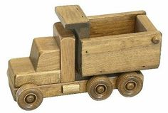WORKING DUMP TRUCK Wooden Construction Toy Amish Handmade Wood Toys Made in USA