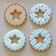 How to decorate star cutout cookies