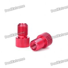 This valve adapter allows you to inflate your Presta valve tubes with a valve pump. It's small and light, so you can thread it onto the valve and leave it there for when you need it. - Aluminum Alloy material - Adapts Presta valve tubes to accept Schrader pump chucks - Random color will be shipped (purple/green/red) http://j.mp/1lkmcmr