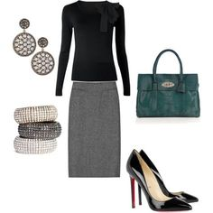 Corporate attire which can transition into evening dinner wear