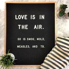 The most versatile and minimalist decoration for your home - felt letter board. Totally in love with and all of the fun boards they create! Inspirational and funny letter board quotes. The Letter Tribe Valentine's Day Quotes, Sign Quotes, Funny Quotes, Sign Sayings, Word Board, Quote Board, Message Board, Felt Letter Board, Felt Letters