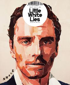 Little White Lies Magazine, Shame cover artwork by Paul Willoughby. Collage pieced together using cutout pictures of body parts.