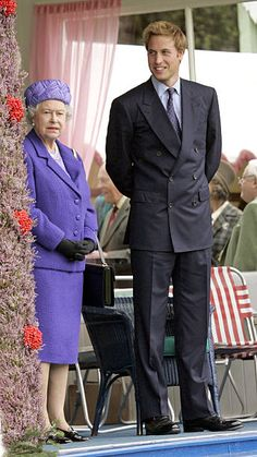 Queen Elizabeth Ii & Prince William Attend The 2005 Braemar Highland Gathering. .