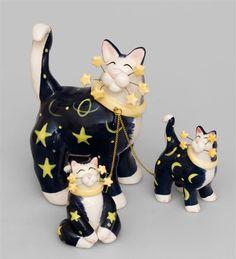 """Фигурка """"Звездная семейка"""" CMS-31/32 (Pavone)   Бренд: Pavone (Италия);      Страна производства: Китай;   Материал: керамика;   Длина: 10 см;   Ширина: 8 см;   Высота: 14 см;   Вес: 0,25 кг;      #кошка"""