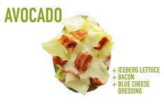Iceberg Lettuce (sub baby spinach) + Bacon + Blue Cheese Dressing | 17 Impossibly Satisfying Avocado Snacks